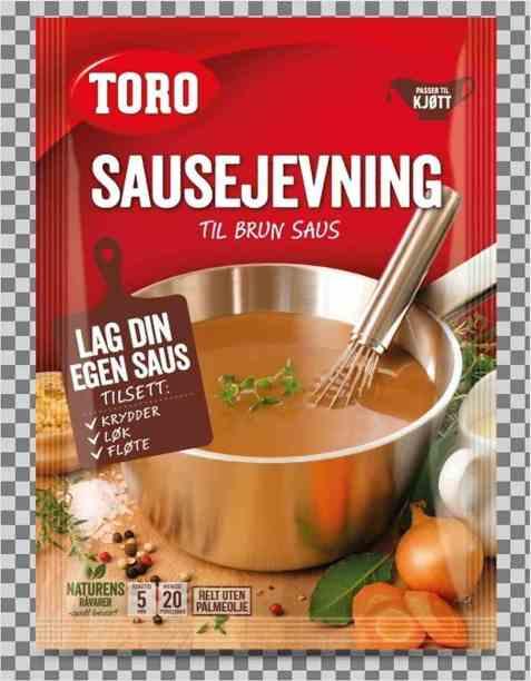Bilde av Toro brunet sausejevning tilberedt.