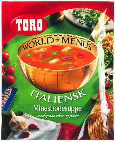 Bilde av Toro italiensk minestronesuppe med grønnsaker og pasta.