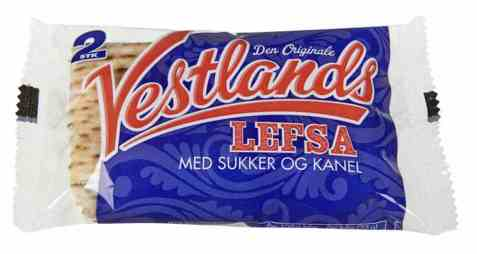 Bilde av Vestlandslefsa med sukker og kanel, ferdig smurte.