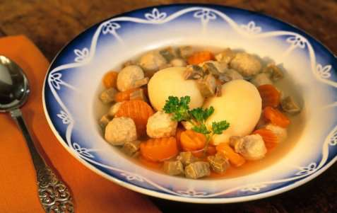 Bilde av Fjordland Sodd med gulrøtter og poteter.