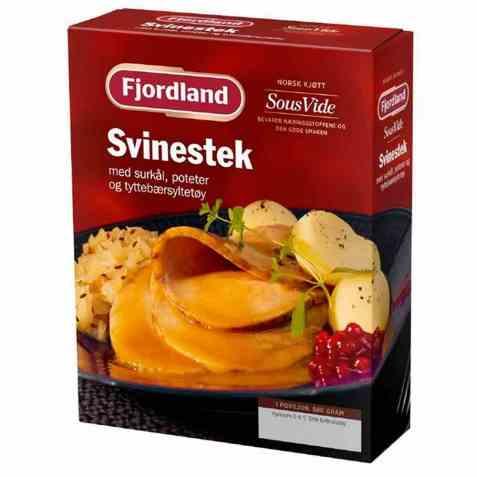 Bilde av Fjordland Svinestek med surkål og poteter.