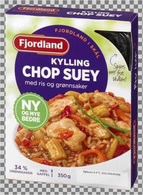 Bilde av Fjordland Kylling Chop Suey med ris og grønnsaker.
