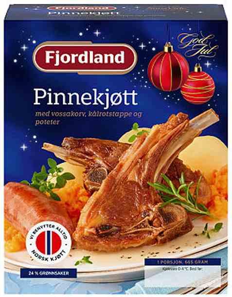Bilde av Fjordland Pinnekjøtt med vossakorv, kålrotstappe og poteter.