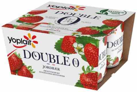 Bilde av Yoplait Dobbel 0% jordbær.