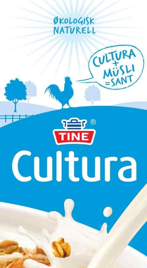 Bilde av Tine Cultura, syrnet melk, naturell, økologisk.