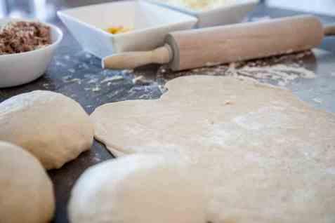 Bilde av Pizzabunn, uten fyll.