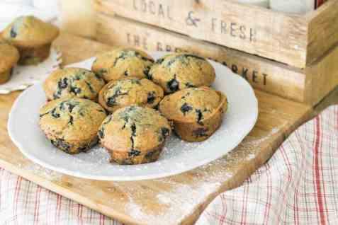 Bilde av Muffins med blåbær, kjøpt.