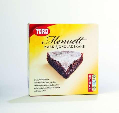 Bilde av Toro menuett mørk sjokoladekake.