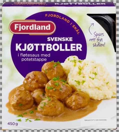 Bilde av Fjordland Svenske kjøttboller i fløtesaus med potetstappe.