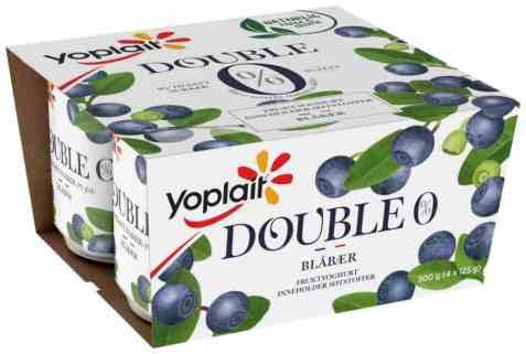 Bilde av Yoplait Dobbel 0% blåbær.