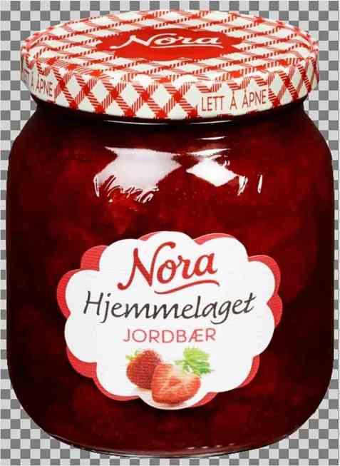 Bilde av Noras hjemmelaget jordbærsyltetøy.