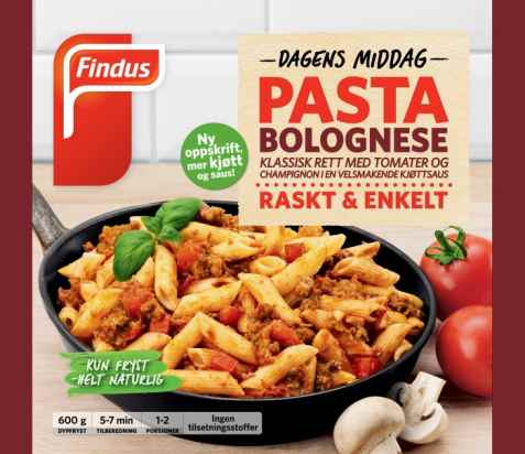 Bilde av Findus Pasta Bolognese.
