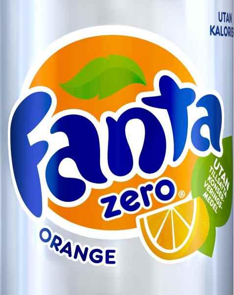Bilde av Fanta Zero Orange.