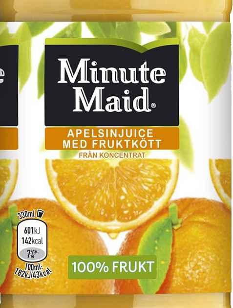 Bilde av Minute maid appelsin.