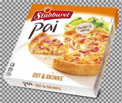 Bilde av Stabburet pai med ost og skinke.