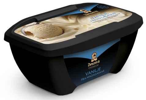 Bilde av Diplom-is premium vanilje fra Madagaskar.