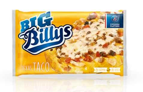Bilde av Billys Pan Pizza Texas Taco.