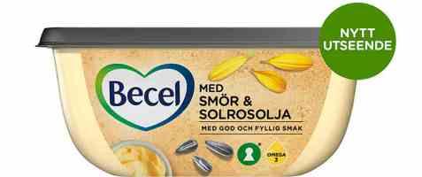 Bilde av Becel med smør og solsikkeolje.
