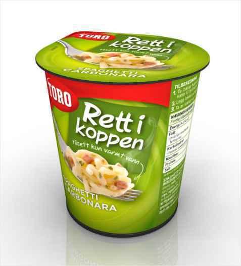 Bilde av Toro Rett i Koppen spaghetti carbonara.