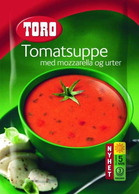 Bilde av Toro tomatsuppe med mozzarella og urter.