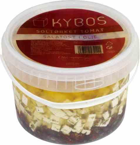 Bilde av KYBOS salatost i olje med soltørket tomat.