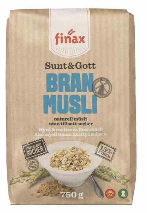 Bilde av Finax sunt og gott bran musli.