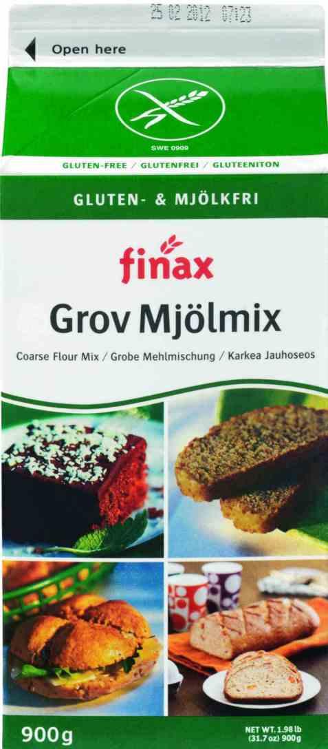 Bilde av Finax Glutenfri Grov Mjølmix uten melk.