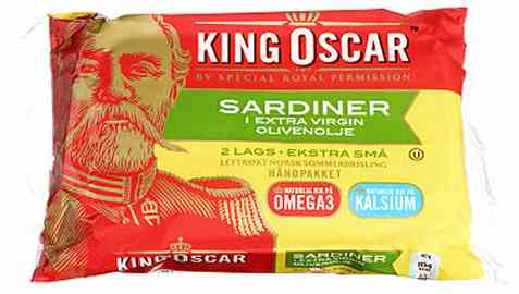 Bilde av King Oscar sardiner i olivenolje 2 lag.