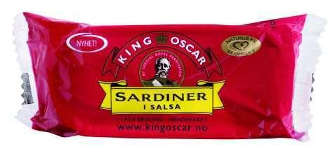 Bilde av King Oscar brislingsardiner i salsa.