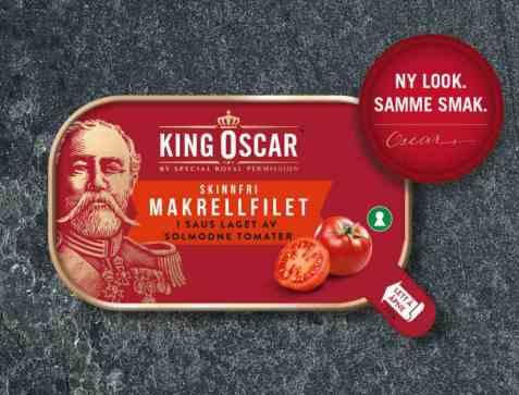 Bilde av King Oscar Makrellfilet i tomat.