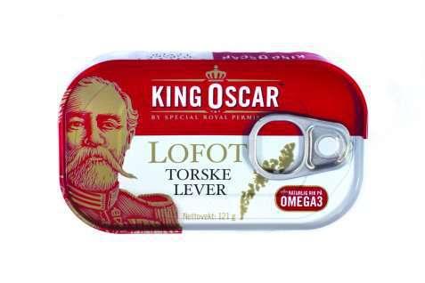 Bilde av King Oscar lofot torskelever.