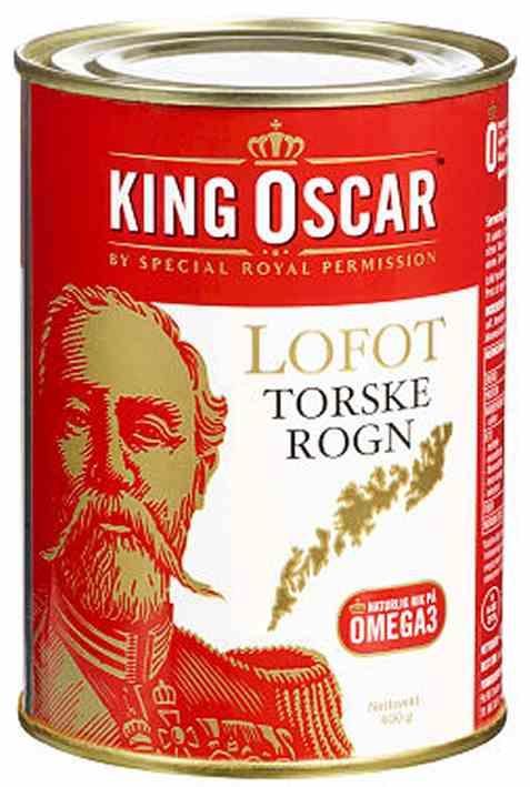 Bilde av King Oscar lofot torskerogn.