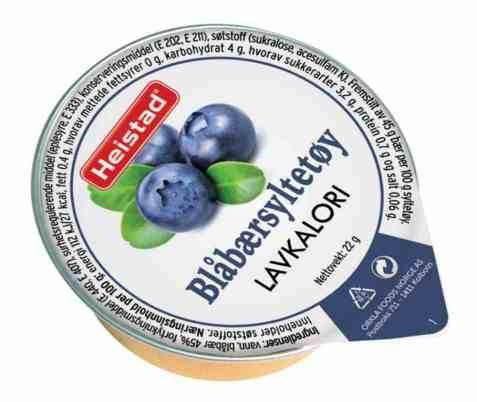 Bilde av Heistad blåbærsyltetøy.