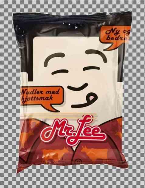 Bilde av Mr Lee pose med kjøttsmak.