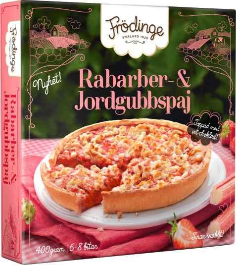 Bilde av Frødinge rabarbra og jordbærpai.