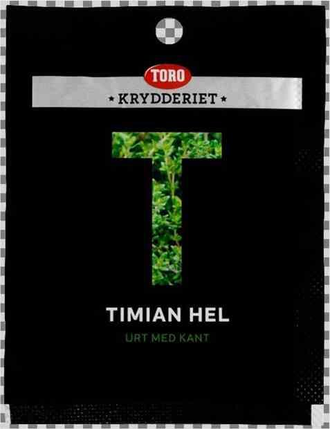 Bilde av Toro Krydderiet Timian hel.