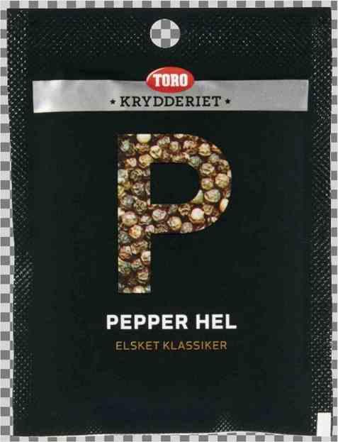 Bilde av Toro Krydderiet Pepper Sort Hel.