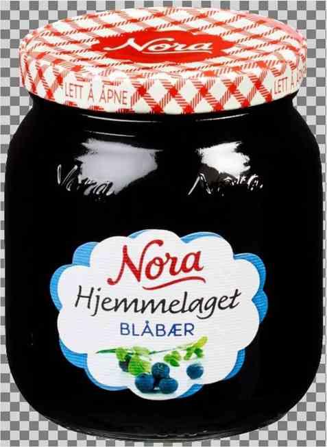 Bilde av Nora hjemmelaget blåbærsyltetøy.