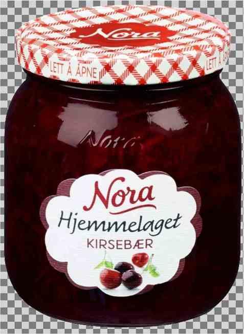 Bilde av Noras Hjemmelaget kirsebærsyltetøy.