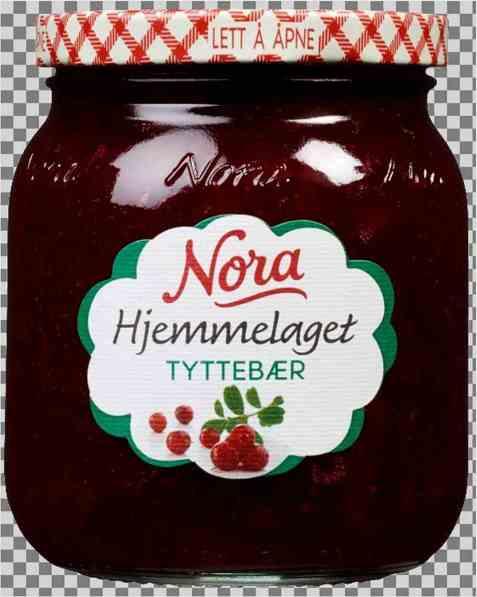Bilde av Noras Hjemmelaget tyttebærsyltetøy.