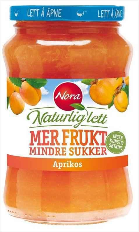 Bilde av Nora Naturlig lett aprikosmarmelade.