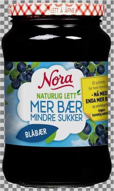 Bilde av Nora Naturlig lett blåbærsyltetøy.