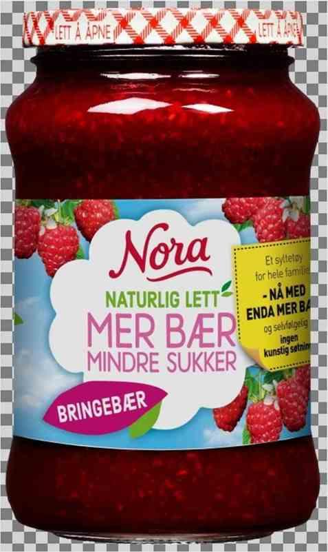 Bilde av Nora Naturlig lett bringebærsyltetøy.