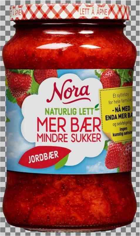 Bilde av Nora Naturlig lett jordbærsyltetøy.