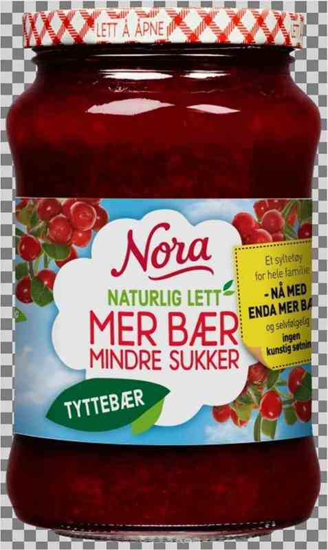 Bilde av Nora Naturlig lett tyttebærsyltetøy.