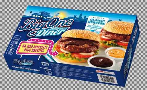 Bilde av Big One classic american hamburger.
