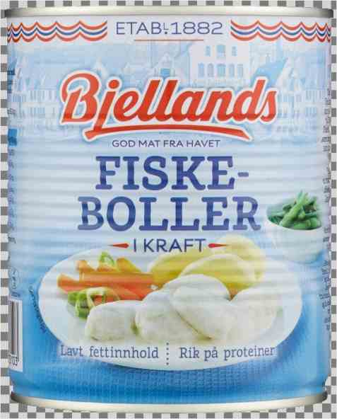 Bilde av Bjellands fiskeboller i kraft.