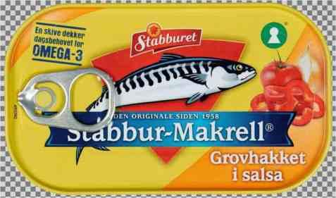 Bilde av Stabbur makrell Grovhakket filet i salsa.