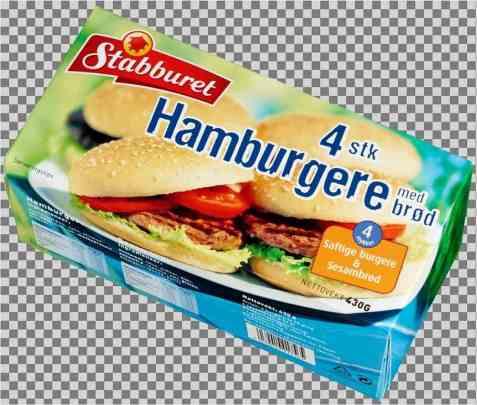 Bilde av Stabburet 4 stk hamburgere med brød.