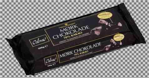 Bilde av Odense bakesjokolade 70% kakao.